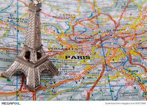 carte de france Paris